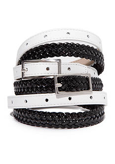 New Directions Black and White Belt Set