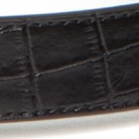 Juniors Belts: Black/Silver New Directions Crocodile Stretch Belt