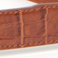 New Directions Juniors Sale: Tan/Gold New Directions Crocodile Stretch Belt