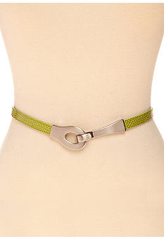 New Directions Skinny Snake Print Belt
