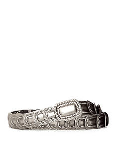 New Directions Textured Modern Stretch Metal Belt
