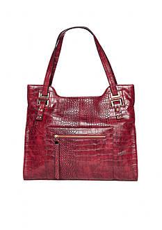 Del Mano Croco Fabulous Double Handle Bag