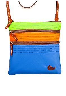 Dooney & Bourke Tri-Color Nylon Triple Zip Crossbody