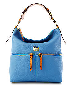 Dooney & Bourke Leather Zipper Pocket Satchel