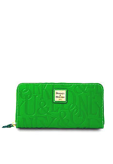 Dooney & Bourke Embossed Leather Zip Around Wallet