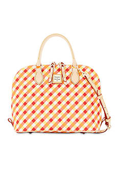 Dooney & Bourke Gingham Zip Satchel
