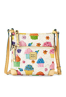 Dooney & Bourke Cupcake Print Letter Carrier Crossbody