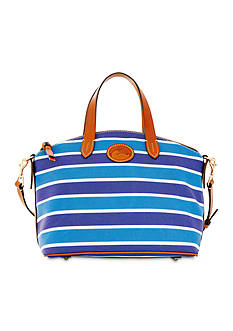 Dooney & Bourke Stripe Nylon Satchel