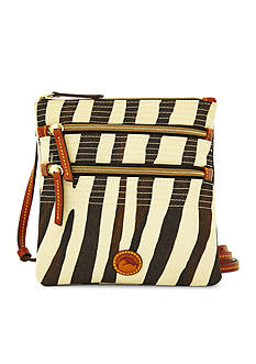 Dooney & Bourke Zebra Triple Zip Crossbody