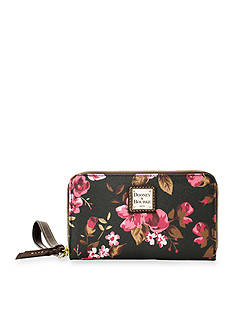 Dooney & Bourke Cabbage Rose Phone Wristlet