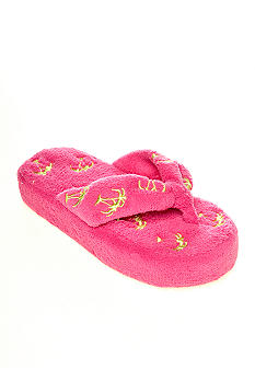 Olivia Miller Palm Trees Terry Cloth Slippers