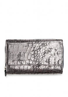 Mundi Metallic Croco Big Fat Clutch Wallet