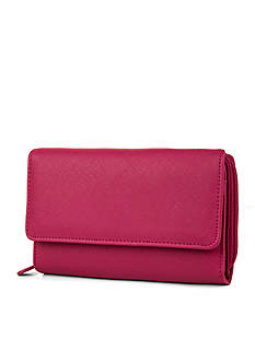 Mundi Saffiano Big Fat Wallet With Safekeeper