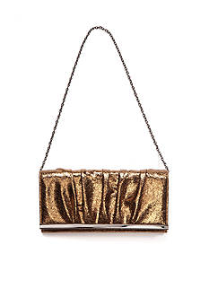Jessica McClintock Pleated Metal Bar Clutch
