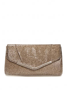 Jessica McClintock Metallic Lurex Envelope Clutch