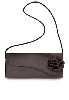 Jessica McClintock Satin East West Flower Evening Bag