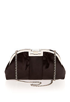 Jessica McClintock Frame Evening Clutch with Rhinestone Closure