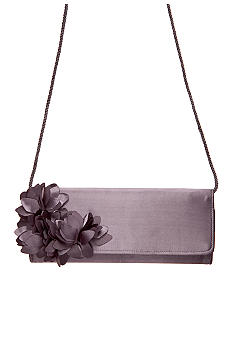 Jessica McClintock Satin Clutch with Flowers