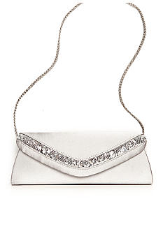 Jessica McClintock Satin Evening Bag with Sequins