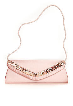 Jessica McClintock Satin Flap with Sequins