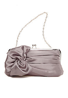 Jessica McClintock Satin Frame Clutch with Twisted Bow