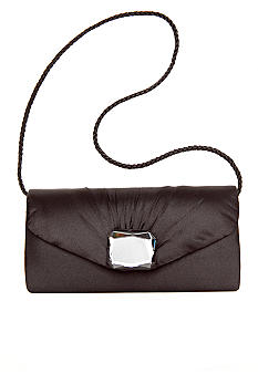 Jessica McClintock Satin Envelope Flap Clutch