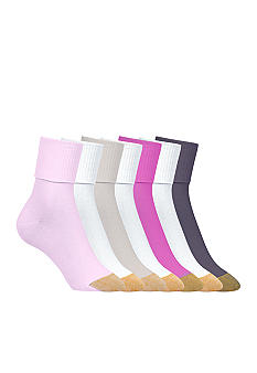 Gold Toe Turn Cuff Socks 6 Pair Pack