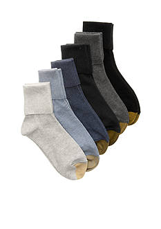 Gold Toe Turn Cuff Six Pair Pack Socks