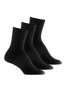 Gold Toe Ultra Soft Three Pair Pack Crew Sock