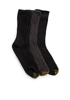 Gold Toe Three Pair Weekend Crew Socks