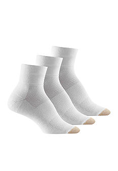 Gold Toe Coolmax Cotton Quarter Socks 3-pack