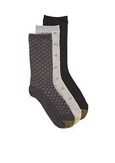 Goldtoe Ultra Soft Dot Crew Socks - 3 Pack