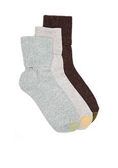 Goldtoe Jet Turn Cuff Socks - 3 Pack
