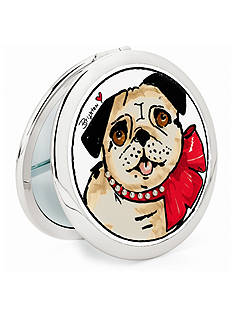 Brighton Paris Pug Travel Mirror