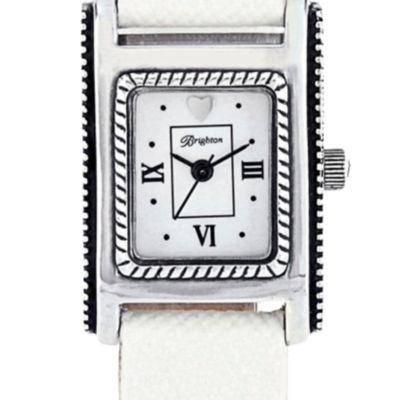 Women: Brighton Accessories: Silver/White Brighton JEFFERSON TIMEPIECE