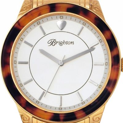 Brighton: Tortoise/Gold Brighton Carpenteria Watch