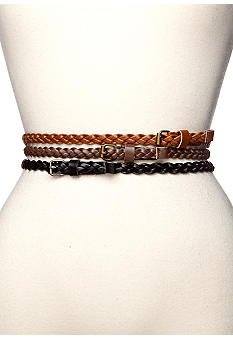 Red Camel Trio Braid Skinny Belts