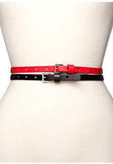 Red Camel Duo Set of Perforated Circle Belts