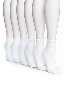 HUE 6 Pack Mini Crew Socks
