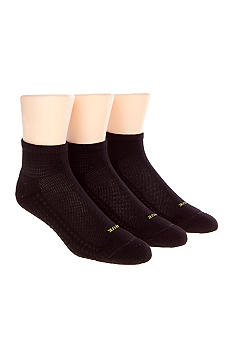 HUE Air Cushion Quarter 3-Pack Athletic Socks