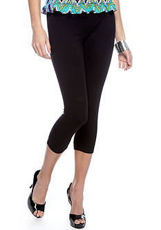HUE Plus Size Cotton Capri Length Legging