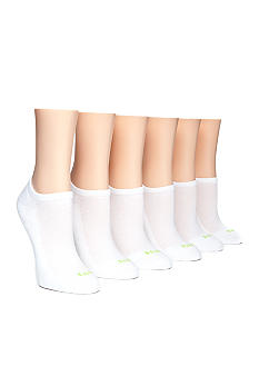 HUE 6-Pair Mesh Top Half Cushion No-Show Socks