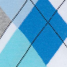 Dress Socks: Catalina Blue HUE Argyle Socks - Single Pair
