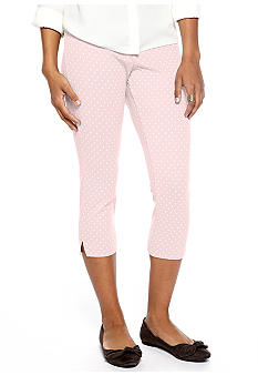 HUE Swiss Dot Jeans Capri Leggings