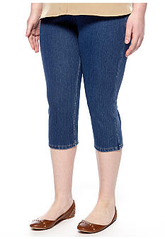 HUE The Original Jeans Capri Leggings in Plus Size
