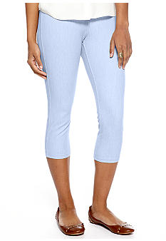 HUE Sunwashed Denim Capri Leggings