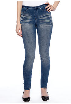 HUE The Original Jeans Distressed Leggings