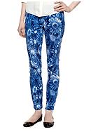 HUE Floral Jean Leggings