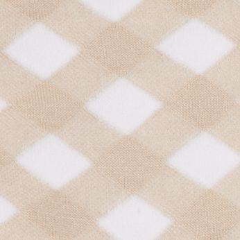 Hue Handbags & Accessories Sale: Tan/White HUE Femme Top Sock - Single Pair