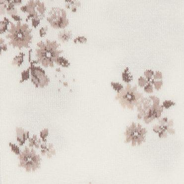 Hue Handbags & Accessories Sale: Tan/Floral HUE Femme Top Sock - Single Pair